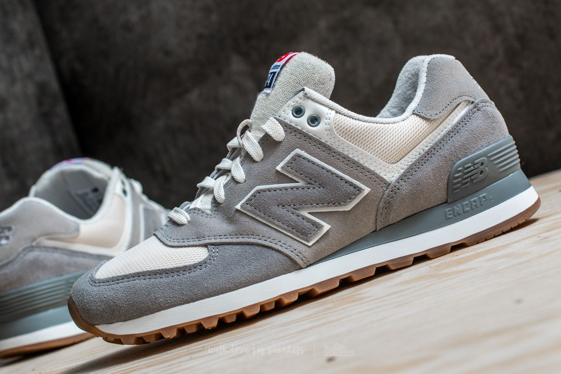new balance 574 silver mink with steel