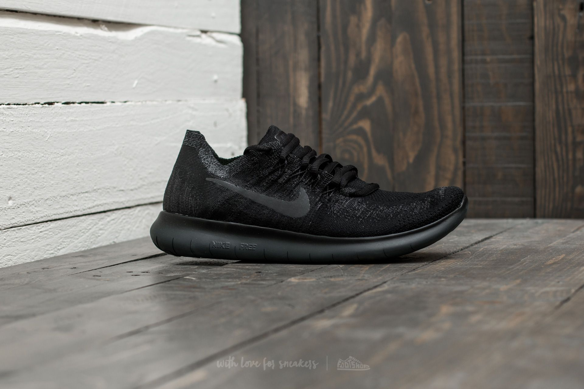 free shipping 425d1 50a35 Nike Wmns Free RN Flyknit 2017 Black/ Anthracite-Anthracite ...