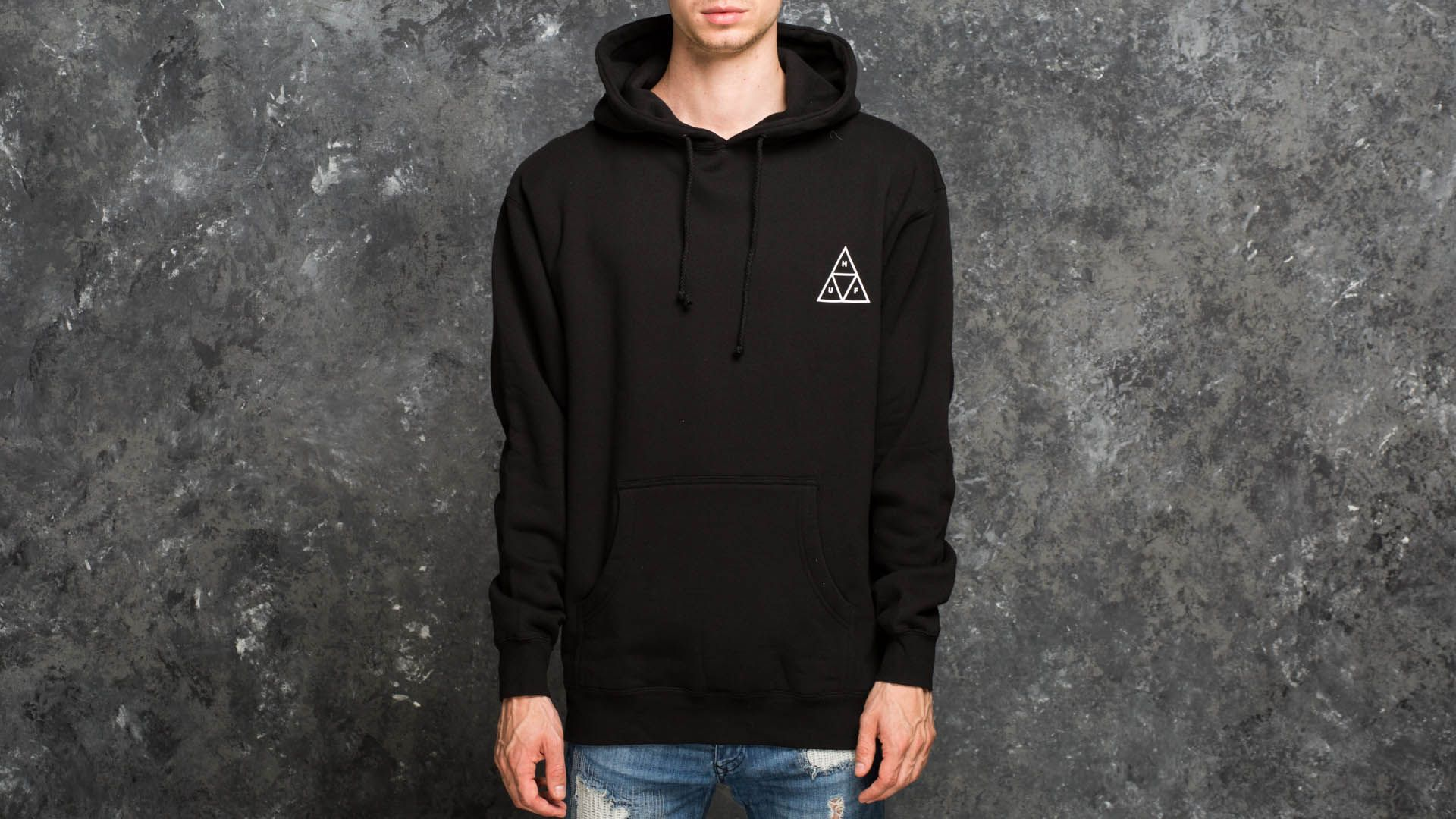 Jope in puloverji HUF Triple Triangle Fleece Sweatshirt Black