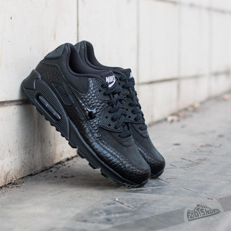 newest 08136 5c975 Nike Wmns Air Max 90 Premium Black Black-Metallic Silver