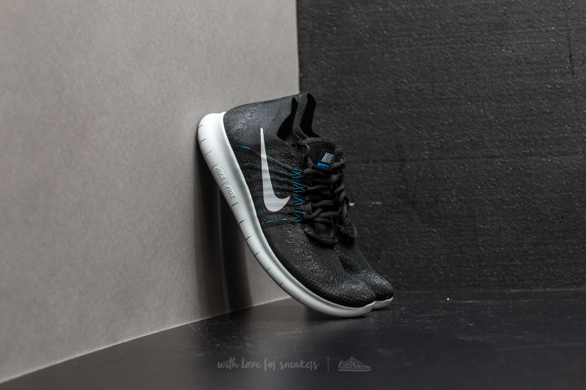 Nike Free Run Flyknit 2017 Black Off White Anthracite | Footshop