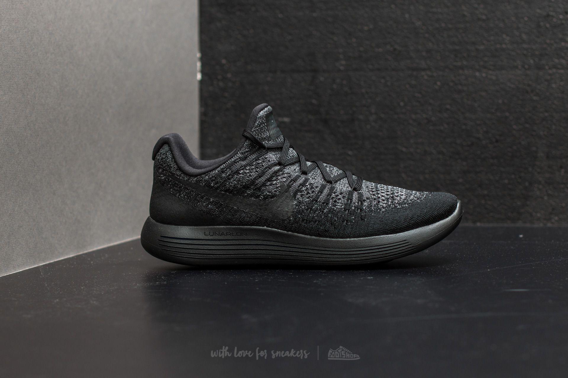the best attitude 65226 8de77 Nike Lunarepic Low Flyknit 2 Black/ Black-Dark Grey | Footshop