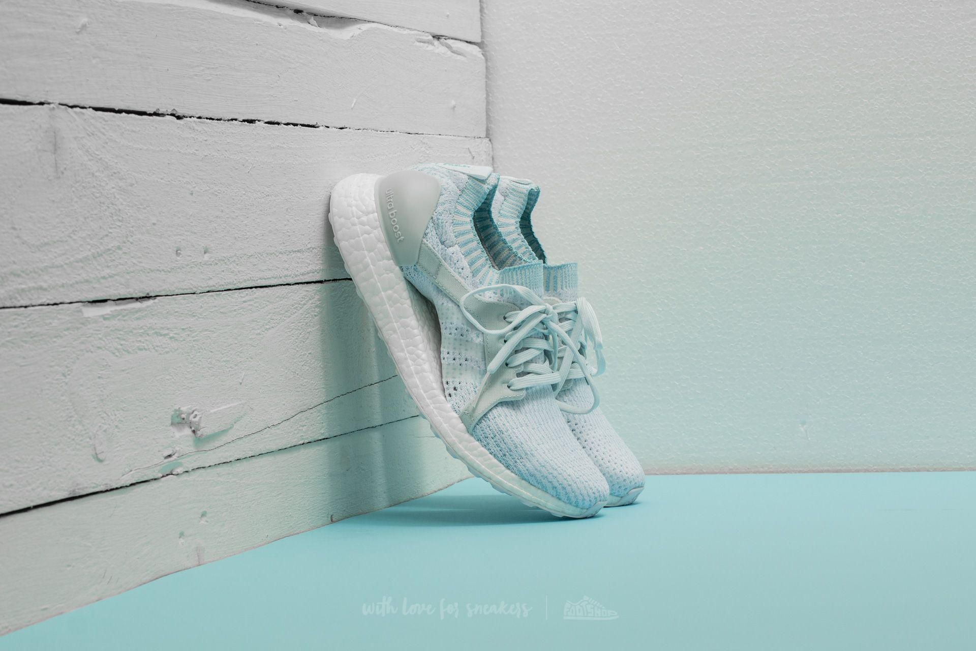 buy online 8ca18 f2df4 adidas x Parley UltraBoost. Icey Blue  Ftw White  ...