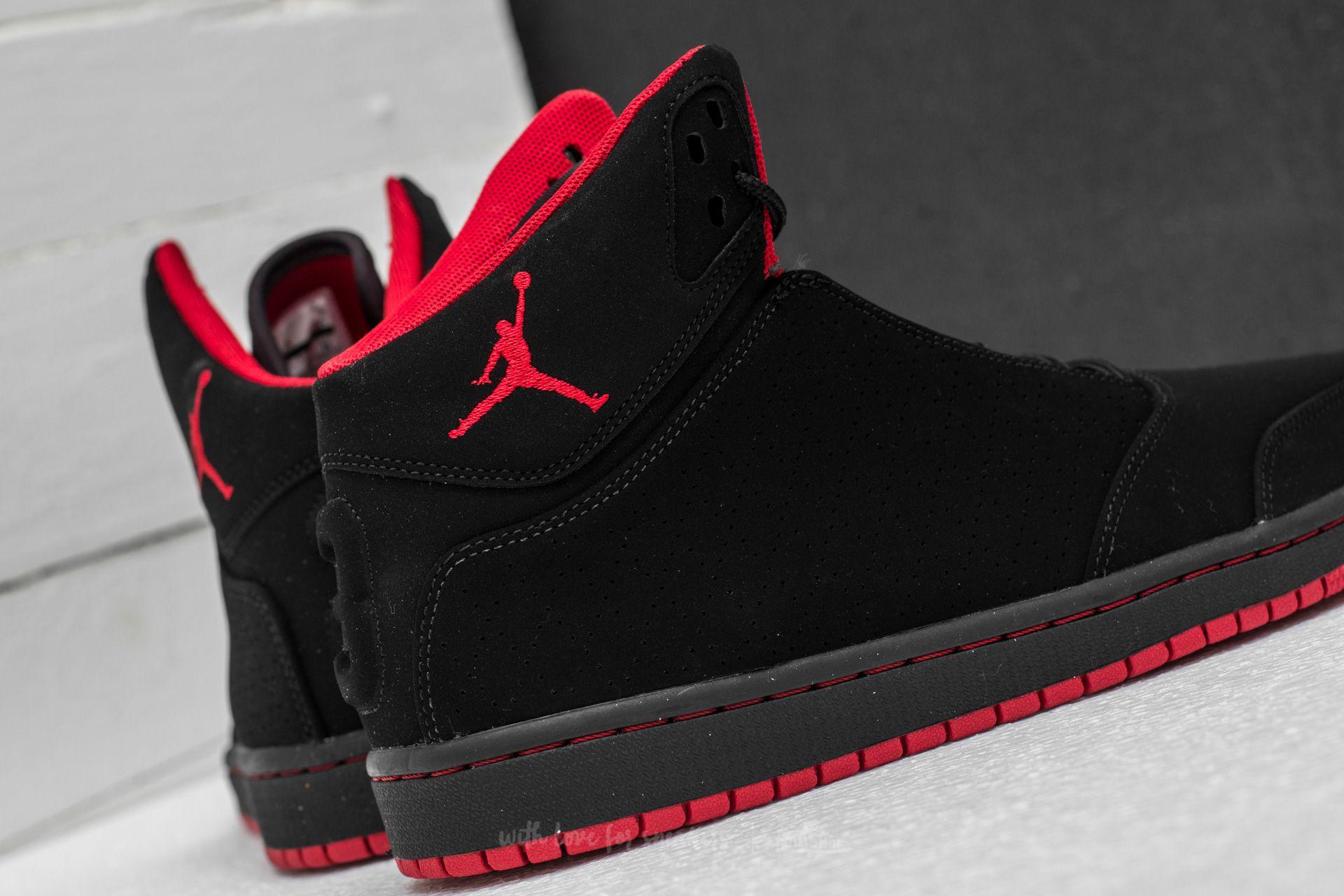 Jordan 1 Flight 5 Black Gym Red   Footshop