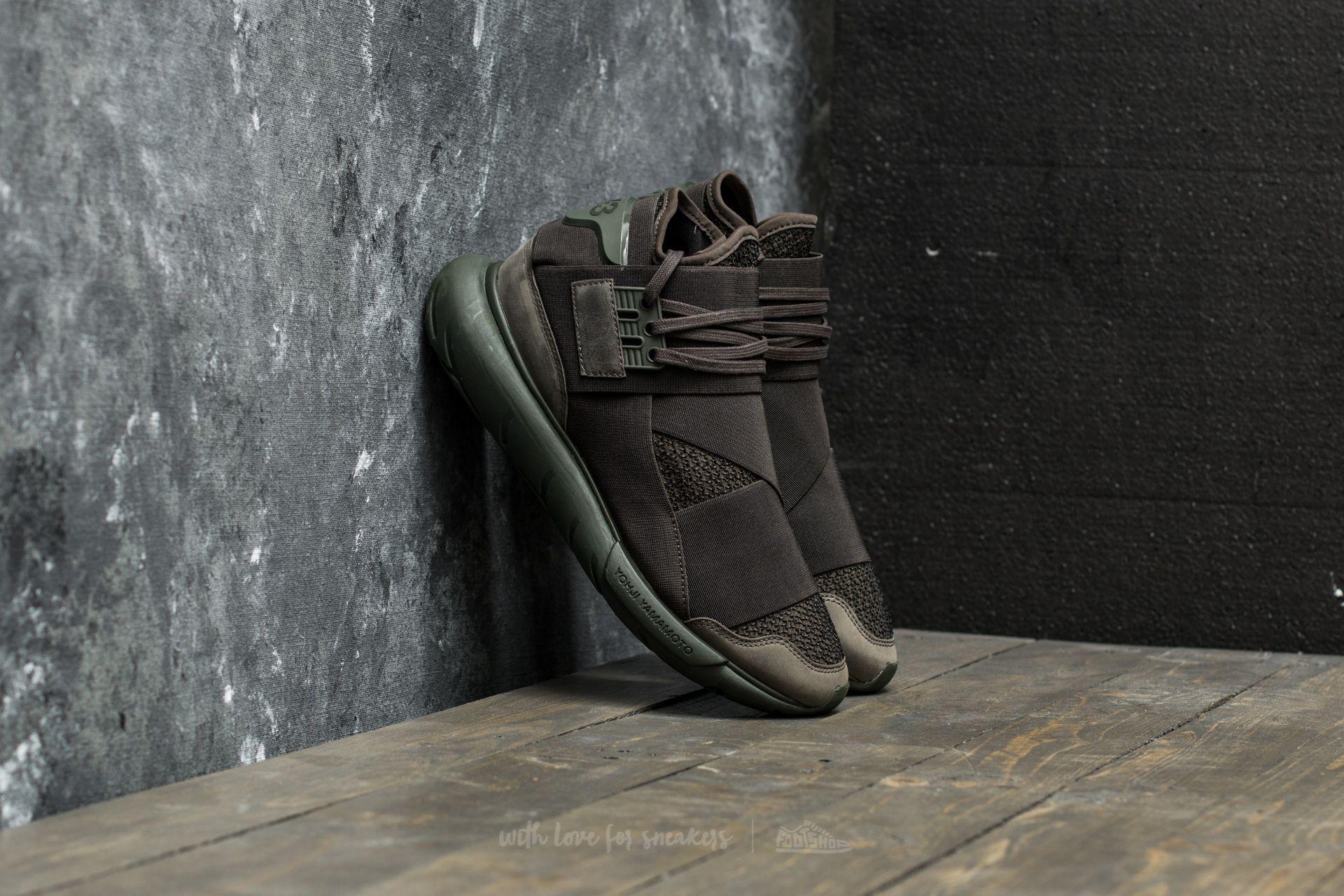 Y-3 Qasa High Black Dark Green  aaa5428a4