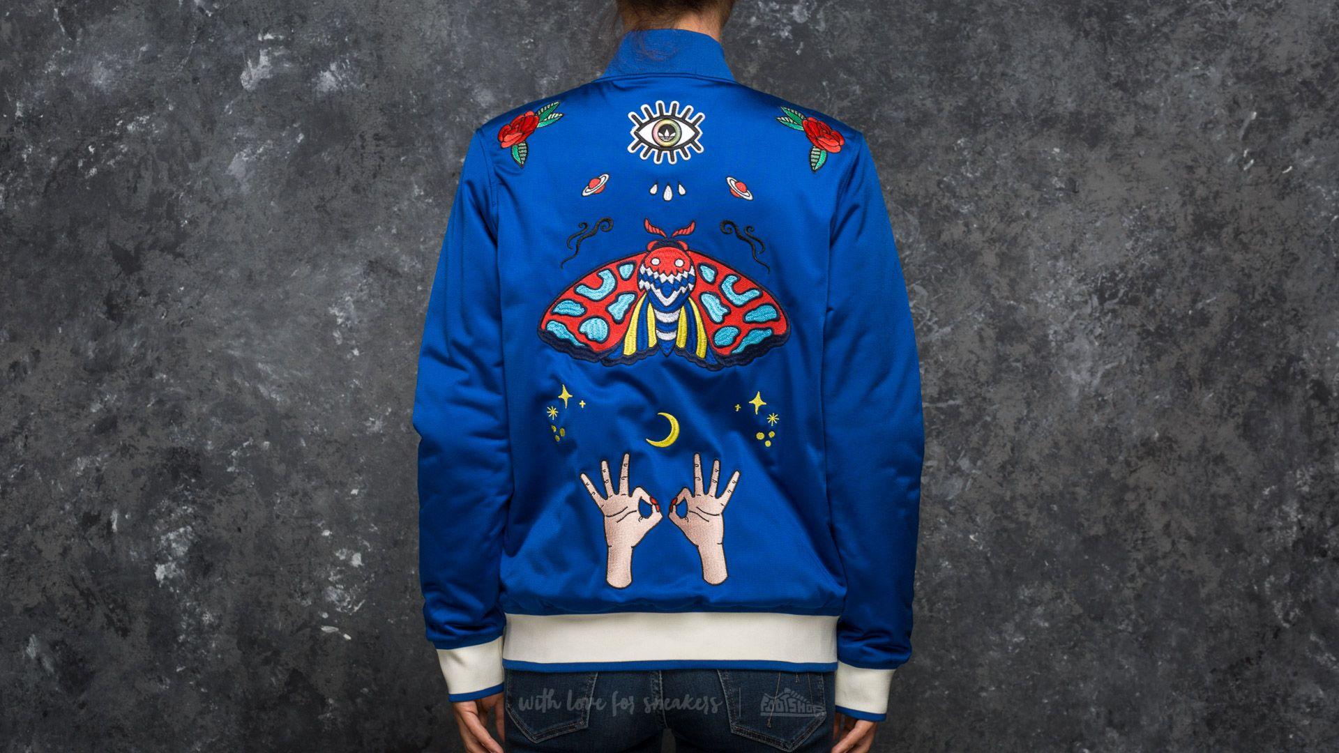 13a3acbd0 adidas Embellished Arts Bomber Jacket Collegiate Royal | Footshop