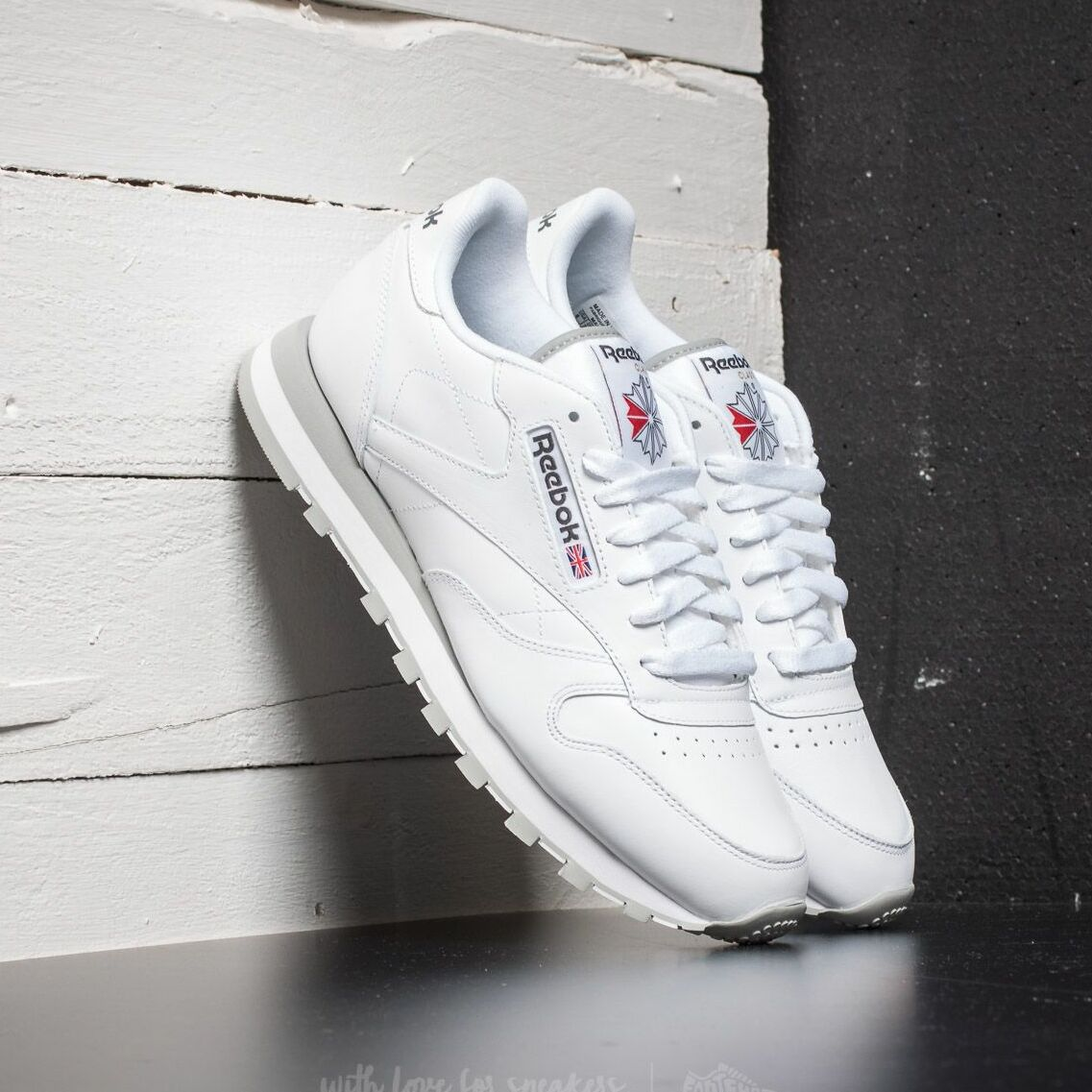 Reebok Classic Leather White/Light Grey EUR 44