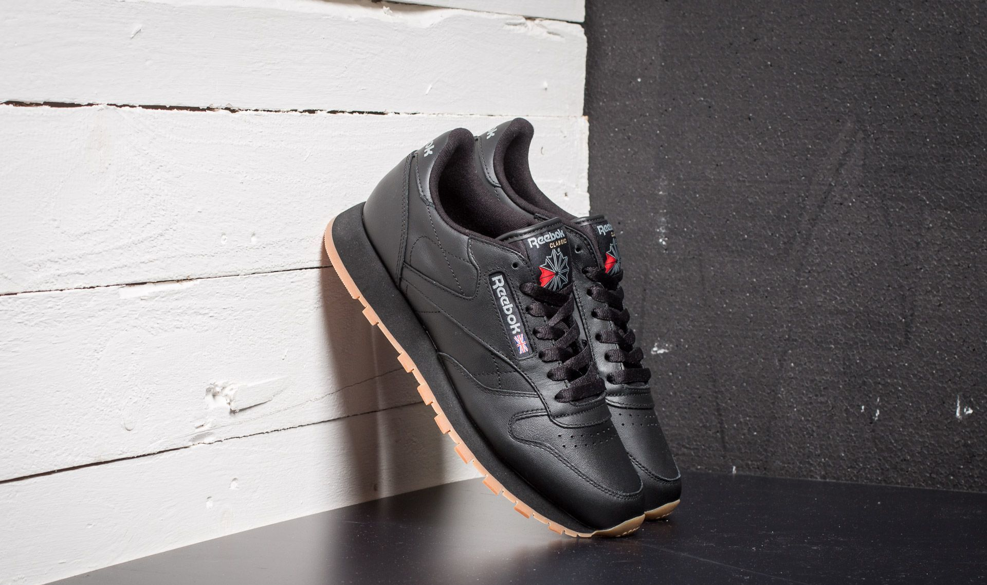 Reebok Classic Leather Black/ Gum EUR 44.5