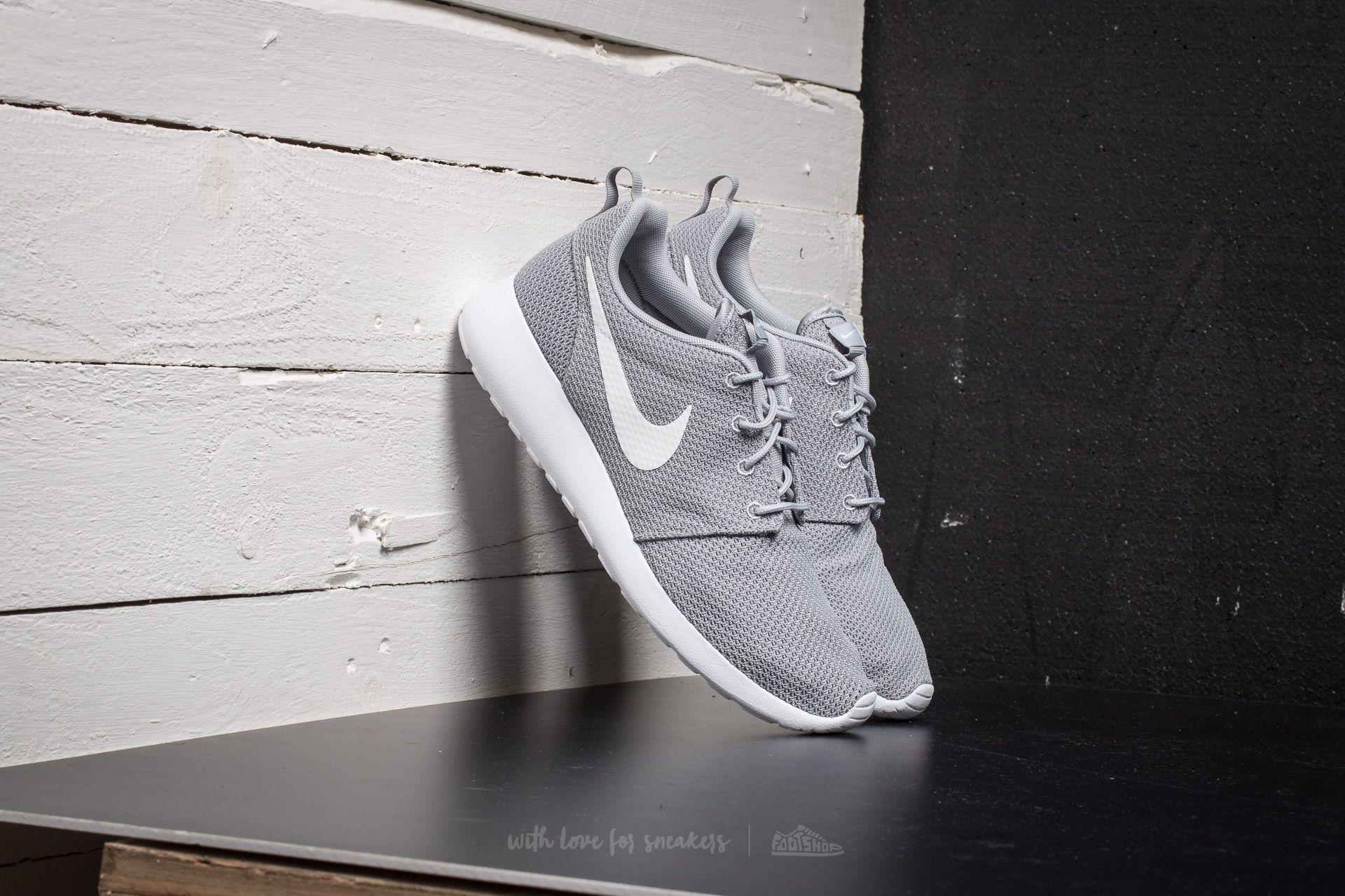 606ba21c98fc Nike Roshe One Wolf Grey  White