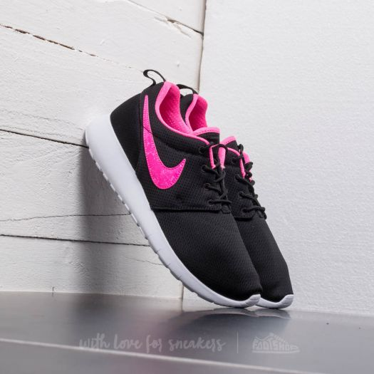 big sale 35187 c0639 Nike Roshe One (GS) Black/ Pink Blast-White | Footshop