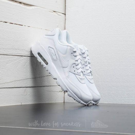 Nike Air Max 90 Mesh (GS) White White | Footshop