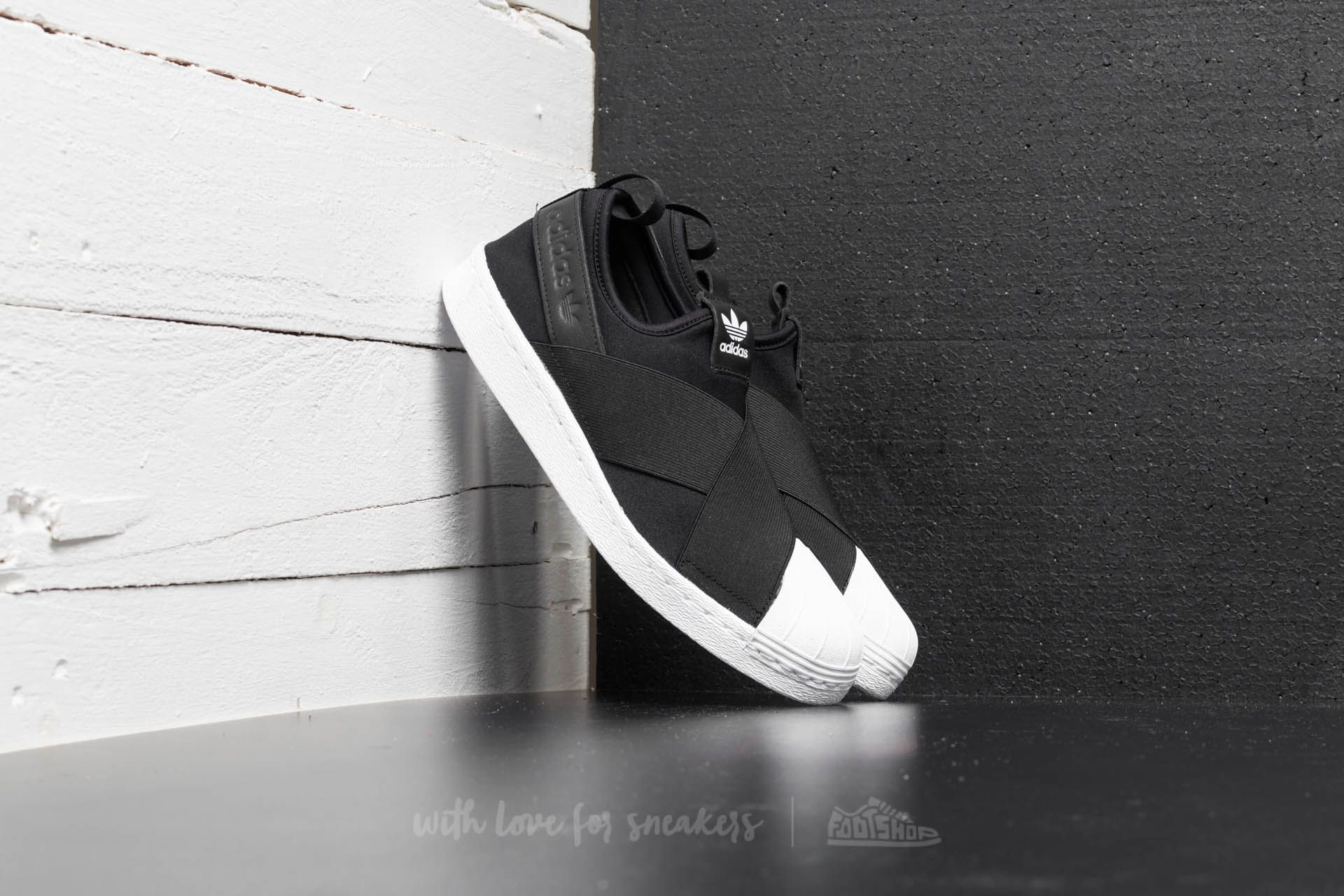 9b5a64617988 adidas Superstar Slip On W Black  Ftw White