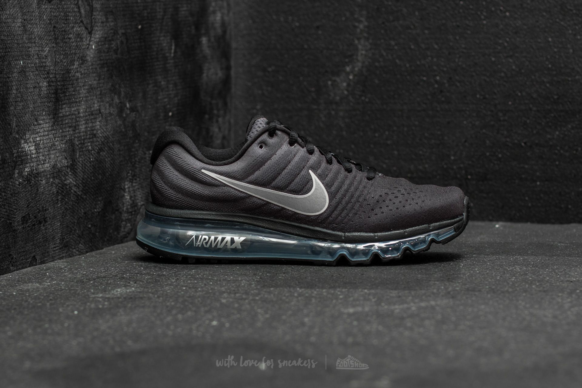 NIKE AIR MAX 2017 BLACK WHITE ANTHRACITE