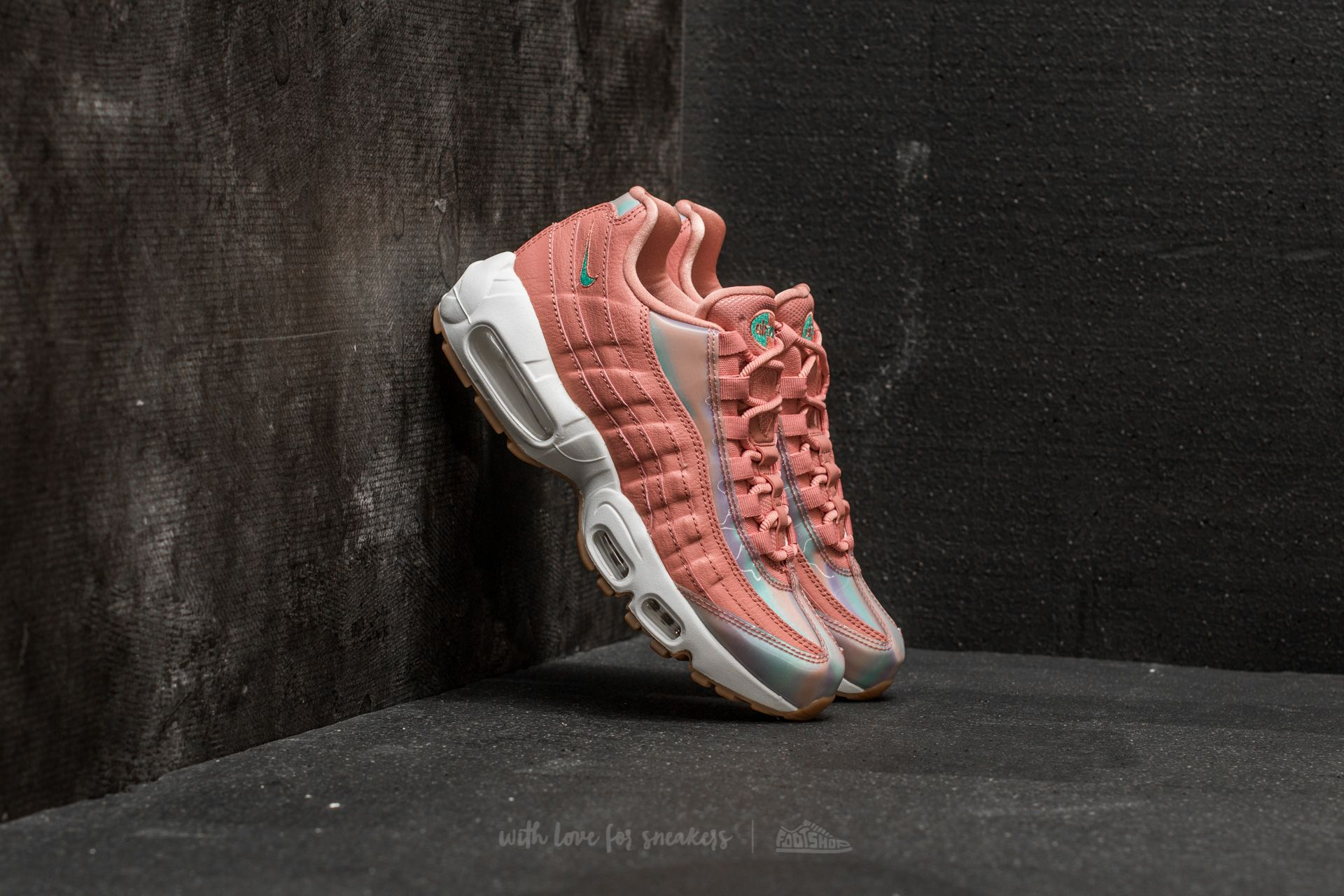 Nike Wmns Air Max 95 SE Red Stardust  Washed Teal-Sail  bcacac07b