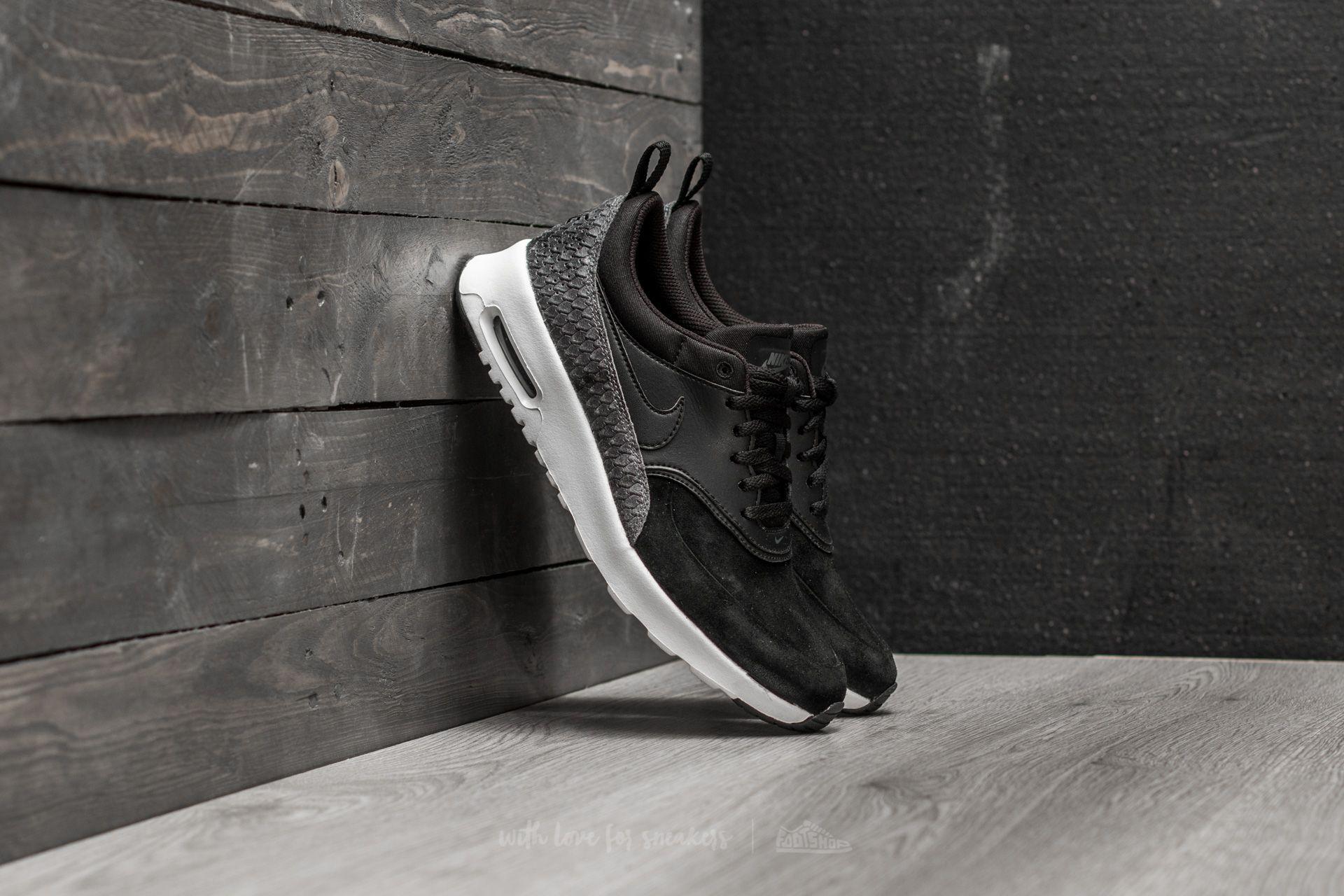 Nike Wmns Air Max Thea Premium Black  Black-Sail-Dark Grey ... c0e4f2802