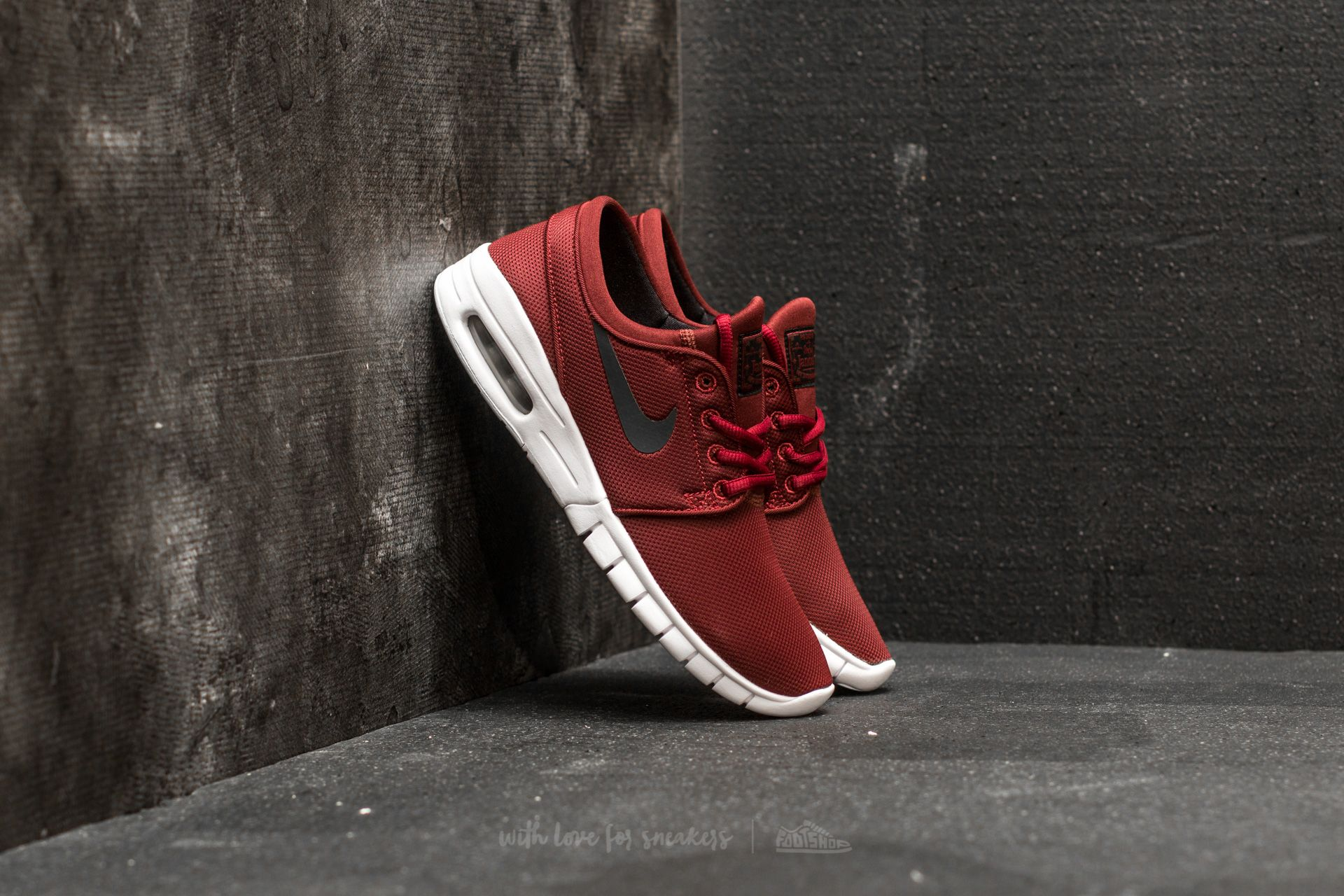 best sale outlet store new style Nike Stefan Janoski Max (GS) Dark Team Red/ Black-White ...