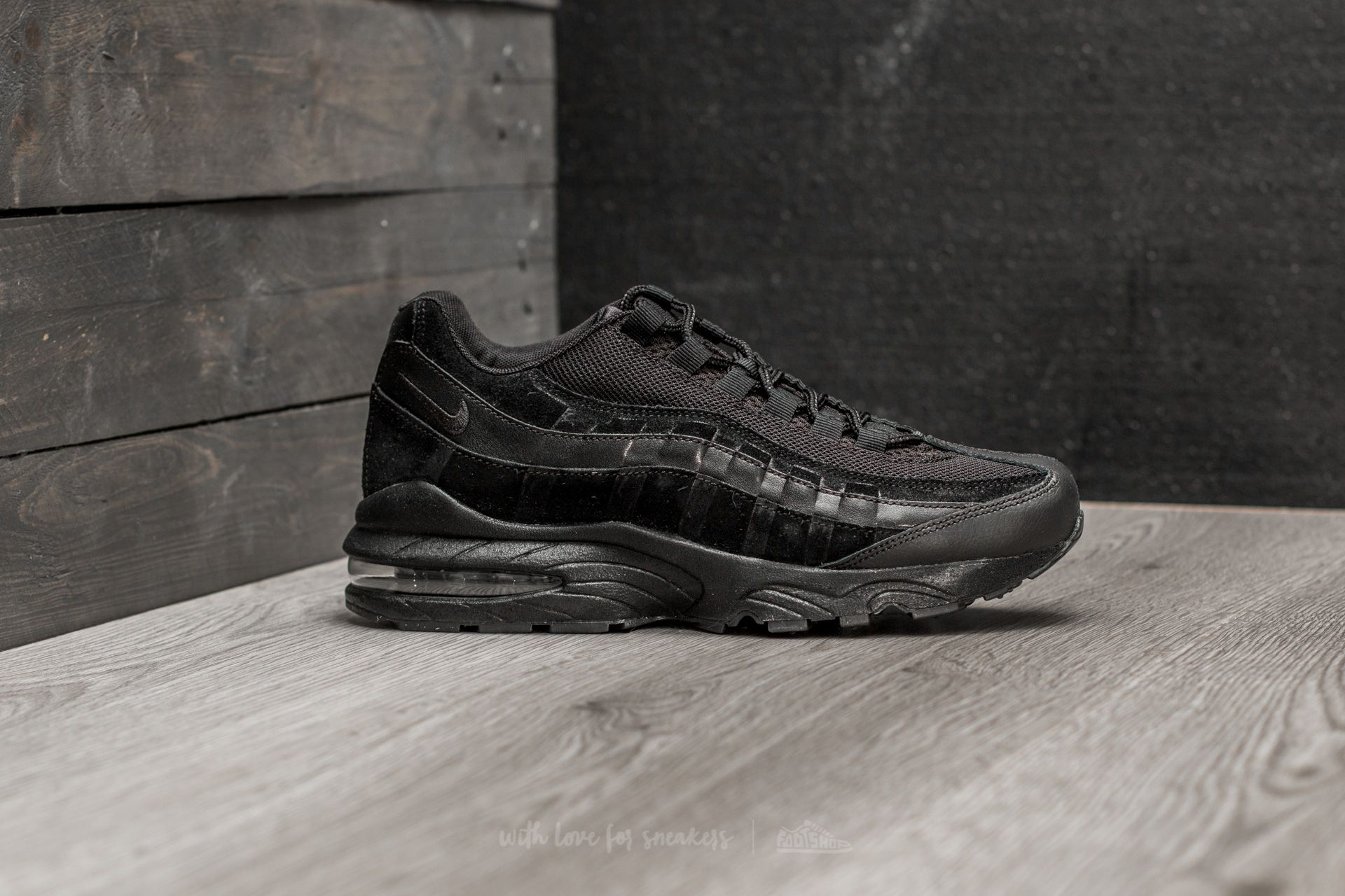 the latest 13561 c61c8 Nike Air Max  95 (GS) Black  Black-Black at a great