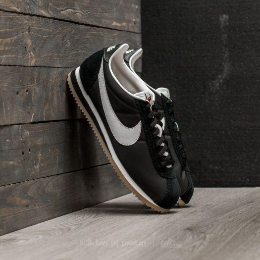 Nike Classic Cortez Nylon Premium Black Sail Gum Light Brown | Footshop