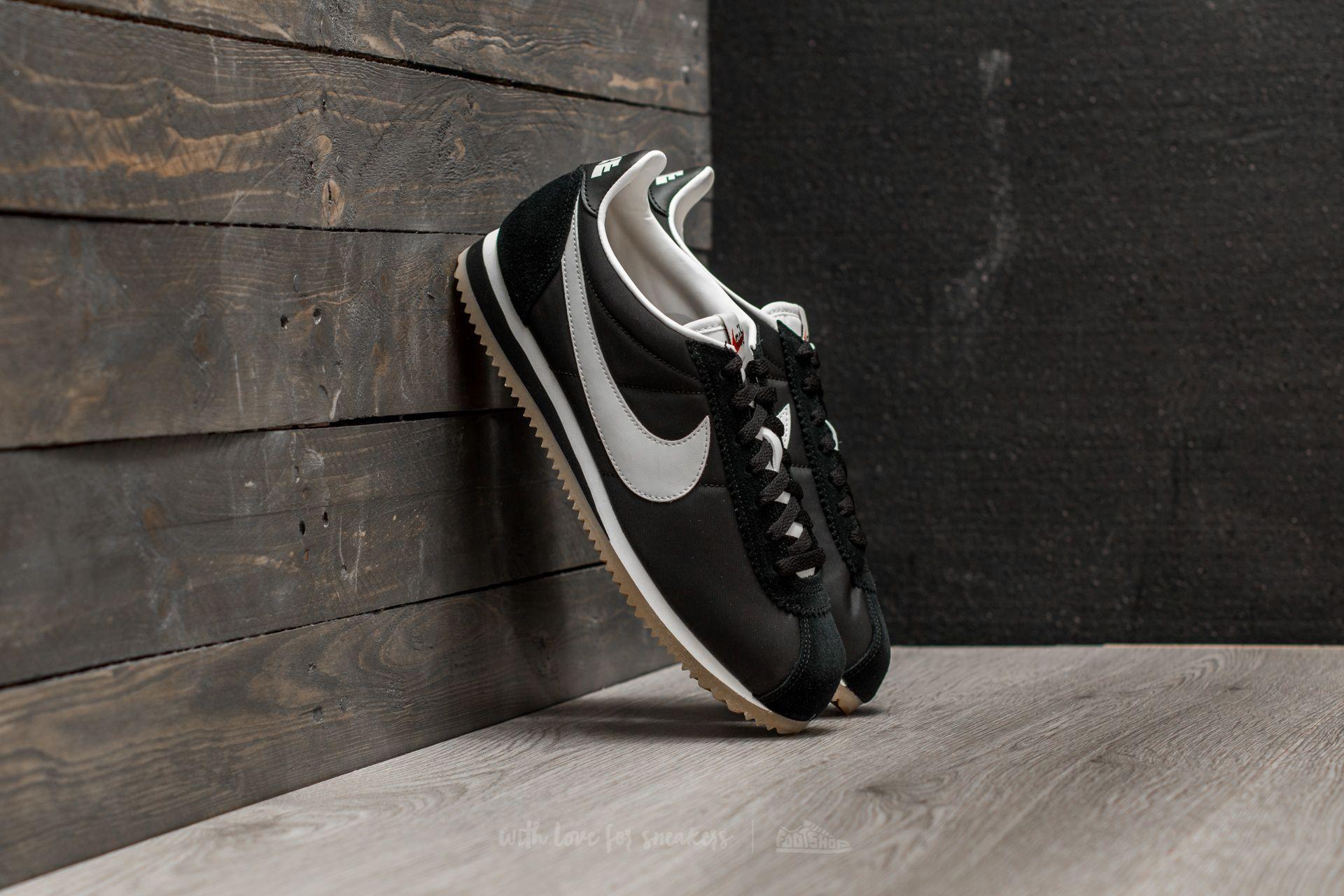 7d720ade4ab2 Nike Classic Cortez Nylon Premium Black  Sail-Gum Light Brown ...