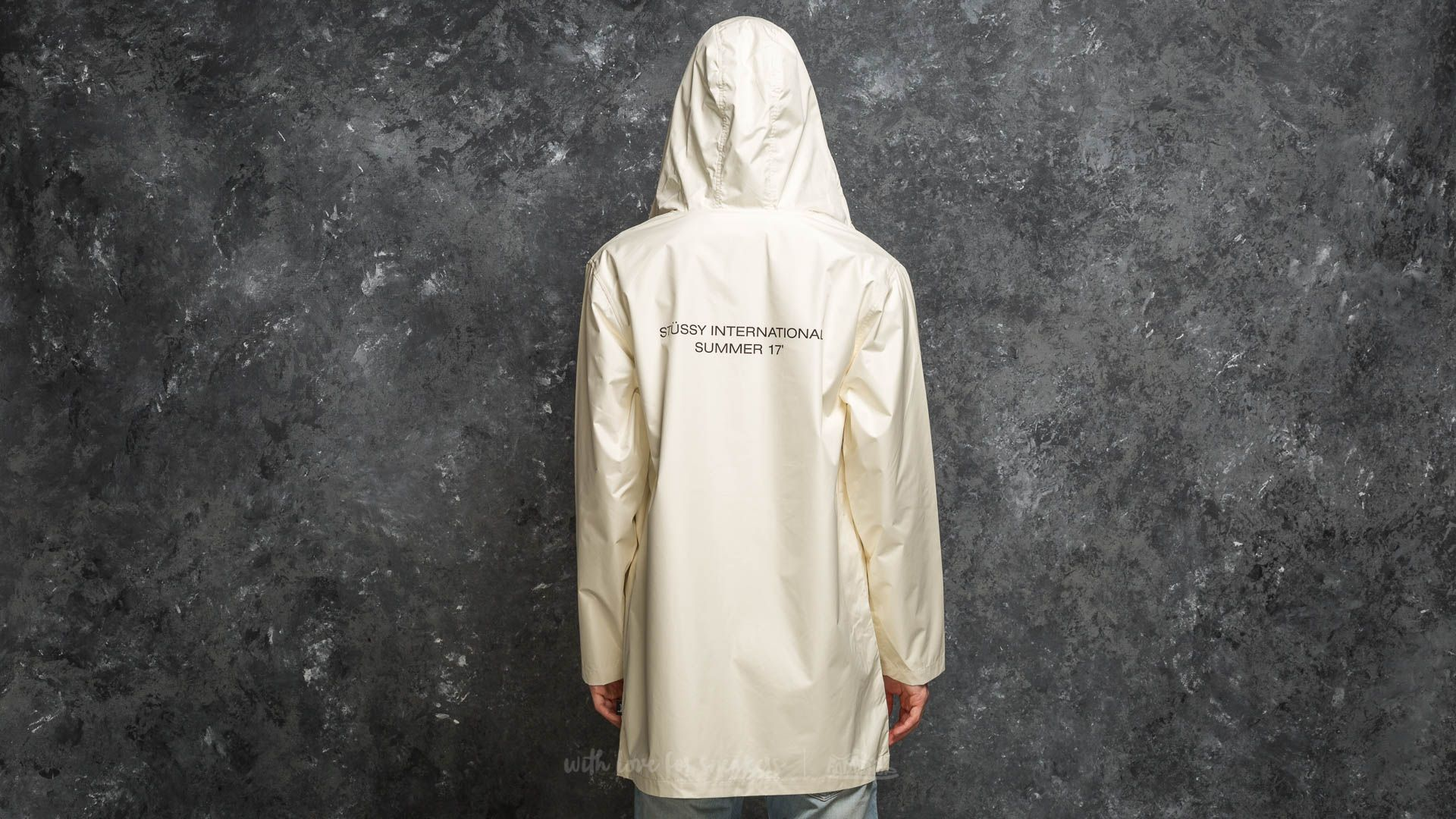 Stüssy Summer Long Hooded Coach Jacket Off White Footshop