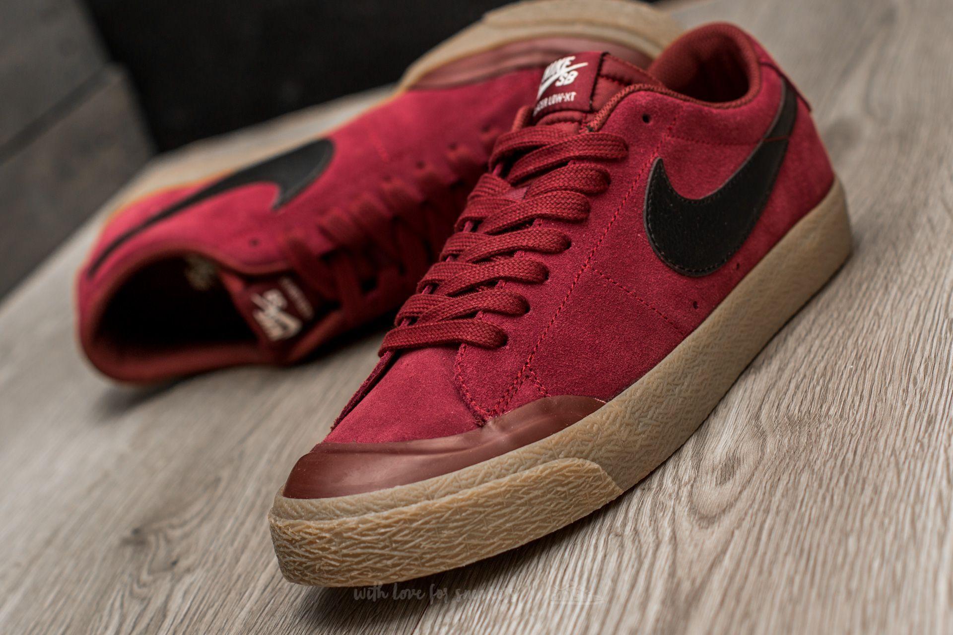 Nike SB Blazer Low XT Dark Red Black Gum