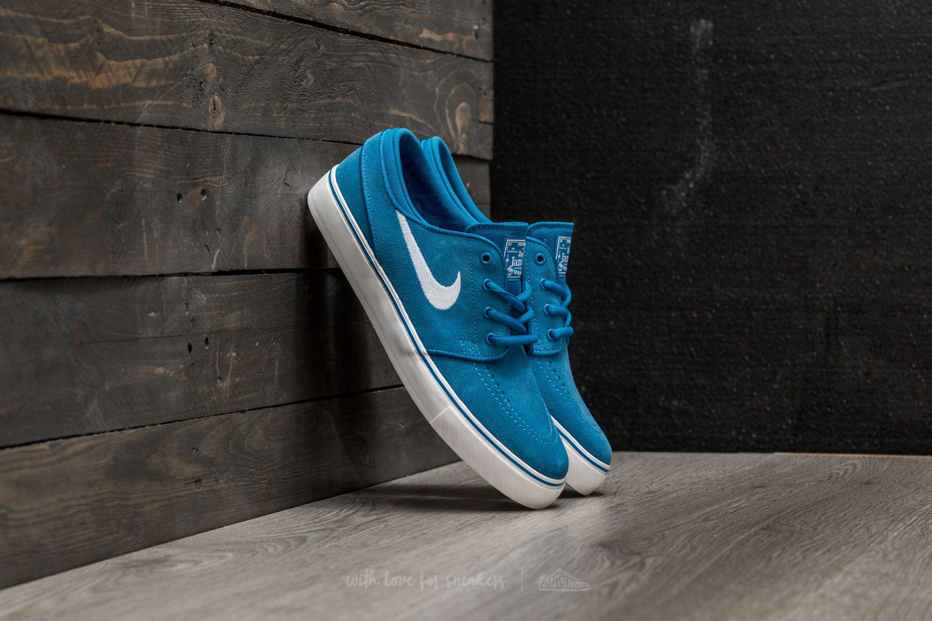 Nike Stefan Janoski (GS) Star Blue  White  463c097ab0