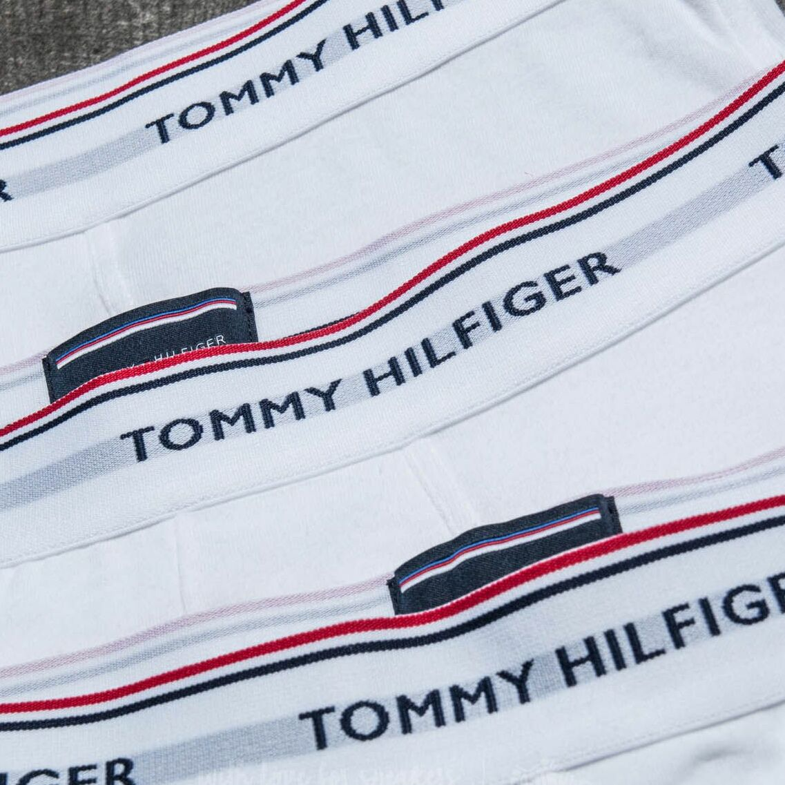 Tommy Hilfiger Premium Essential 3 Pack Low Rise Trunks White
