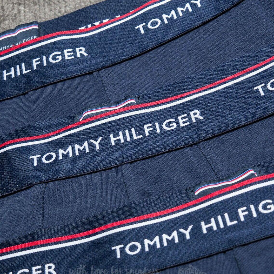 Tommy Hilfiger Premium Essentials 3 Pack Low Rise Trunks Peacoat, Blue
