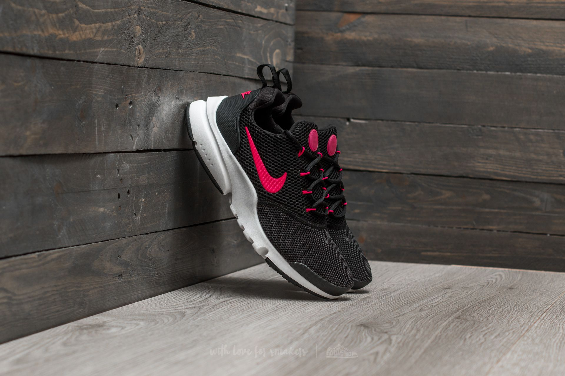 low priced 6c7e3 ac526 Nike Presto Fly (GS). Black  Rush Pink-White