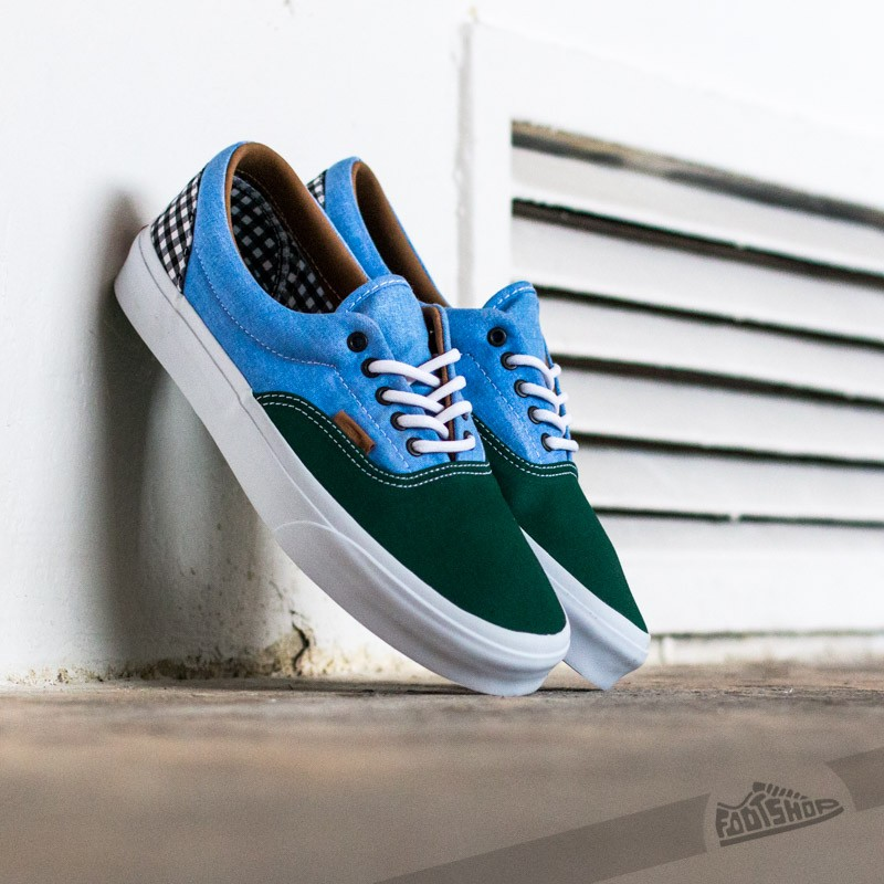c34d67ab0c7b Vans Era California (Twill) Gingham Evergreen