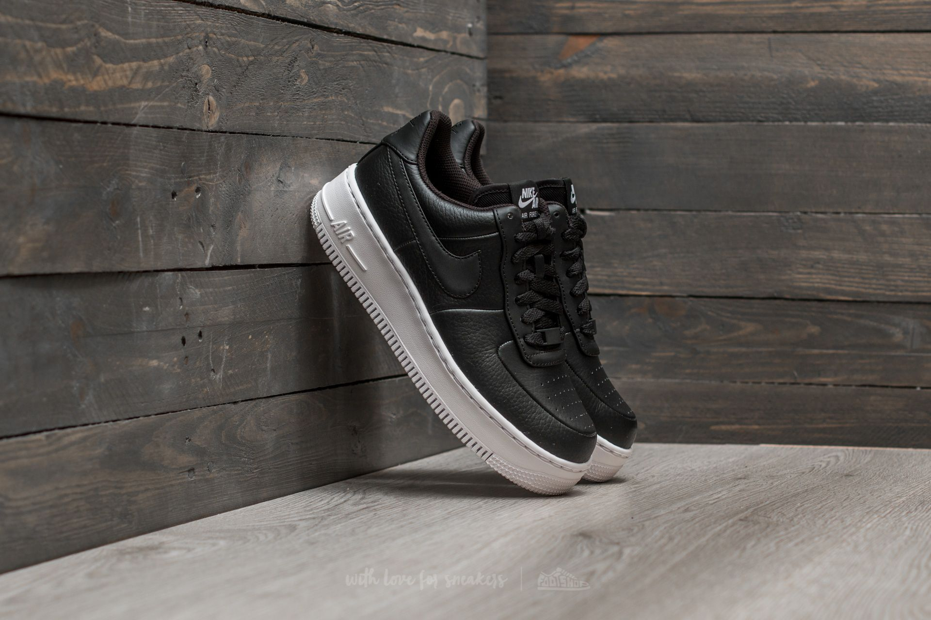 Nike Wmns Air Force 1 Upstep Black Black White | Footshop