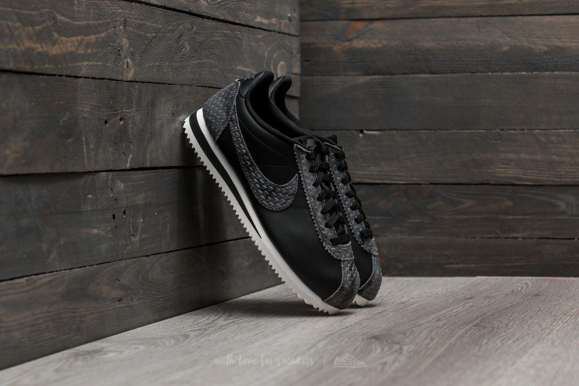 9e84d43ef151 Nike WMNS Classic Cortez Premium Black  Black-Sail