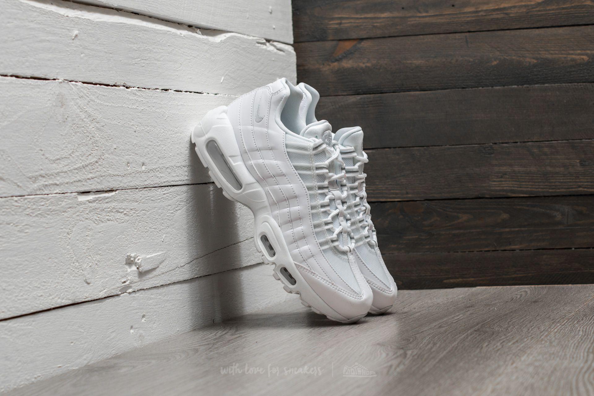 Nike WMNS Air Max 95 White  White-Pure Platinum  c92741a9e