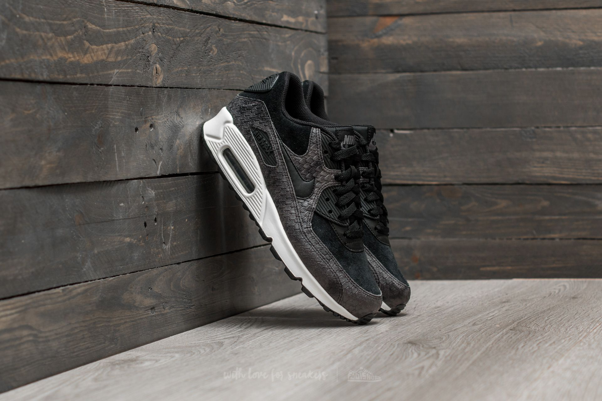 quality design 24fa9 7d8c2 Nike Wmns Air Max 90 Premium Black/ Black-Sail-Dark Grey | Footshop