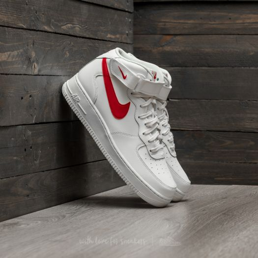 Nike Air Force Mid ´07 Sail University Red | Footshop