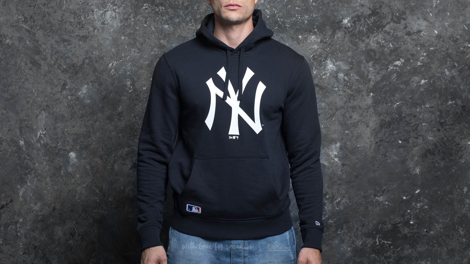 reputable site e7dc8 bba01 New Era NOS New York Yankees Pullover Hoody Navy | Footshop
