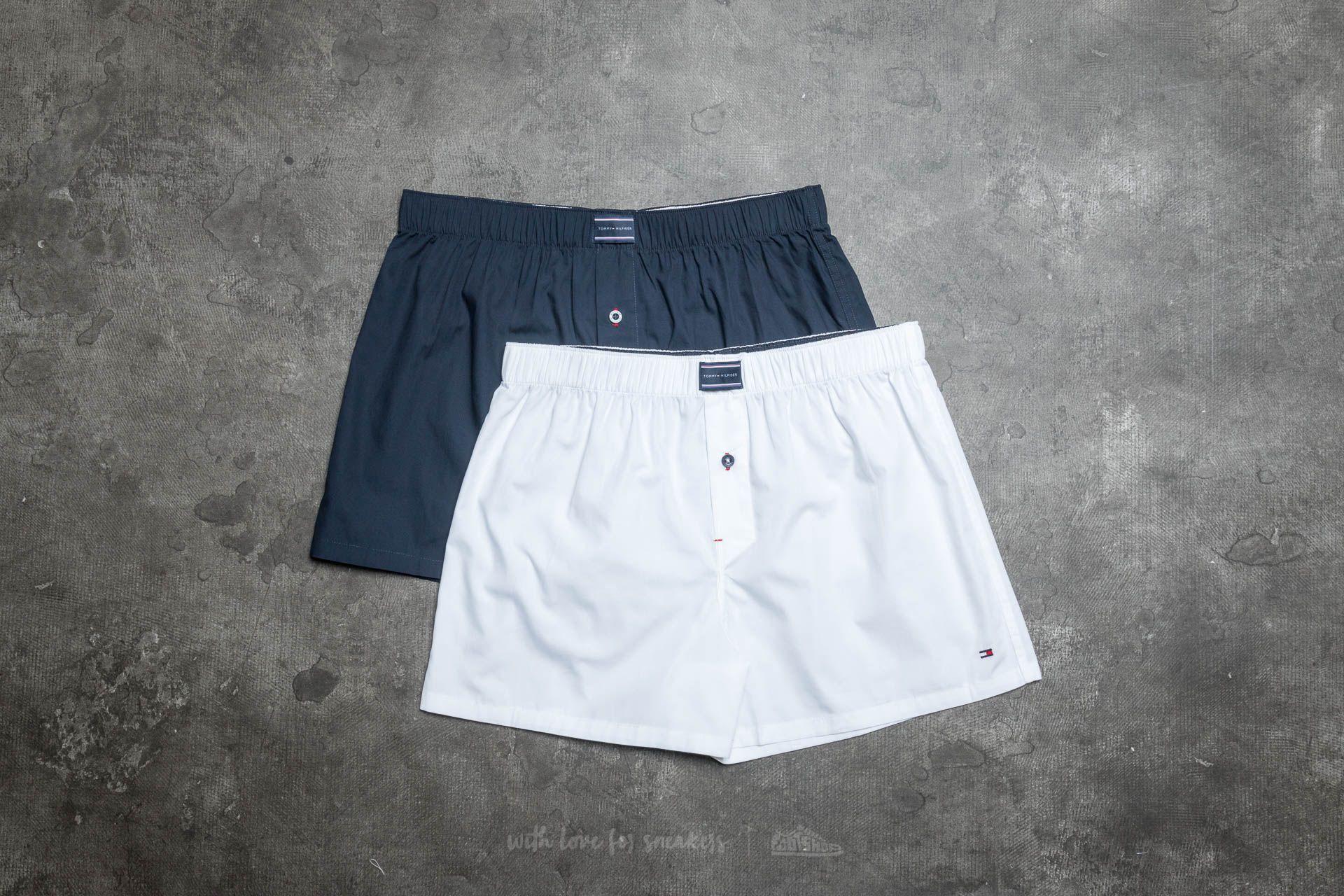 32af641d4f1b18 Tommy Hilfiger 2 Pack Woven Boxer White/ Navy Blazer | Footshop