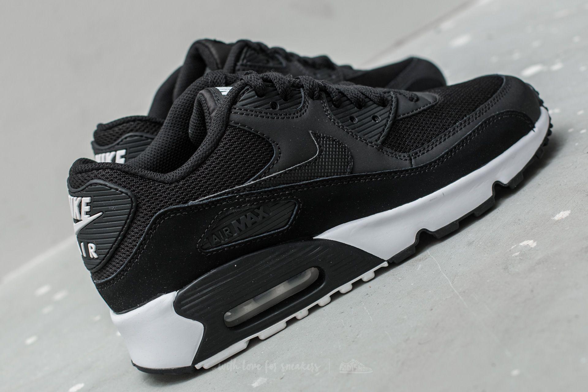 Nike Air Max 90 Mesh (GS) Black Black White | Footshop