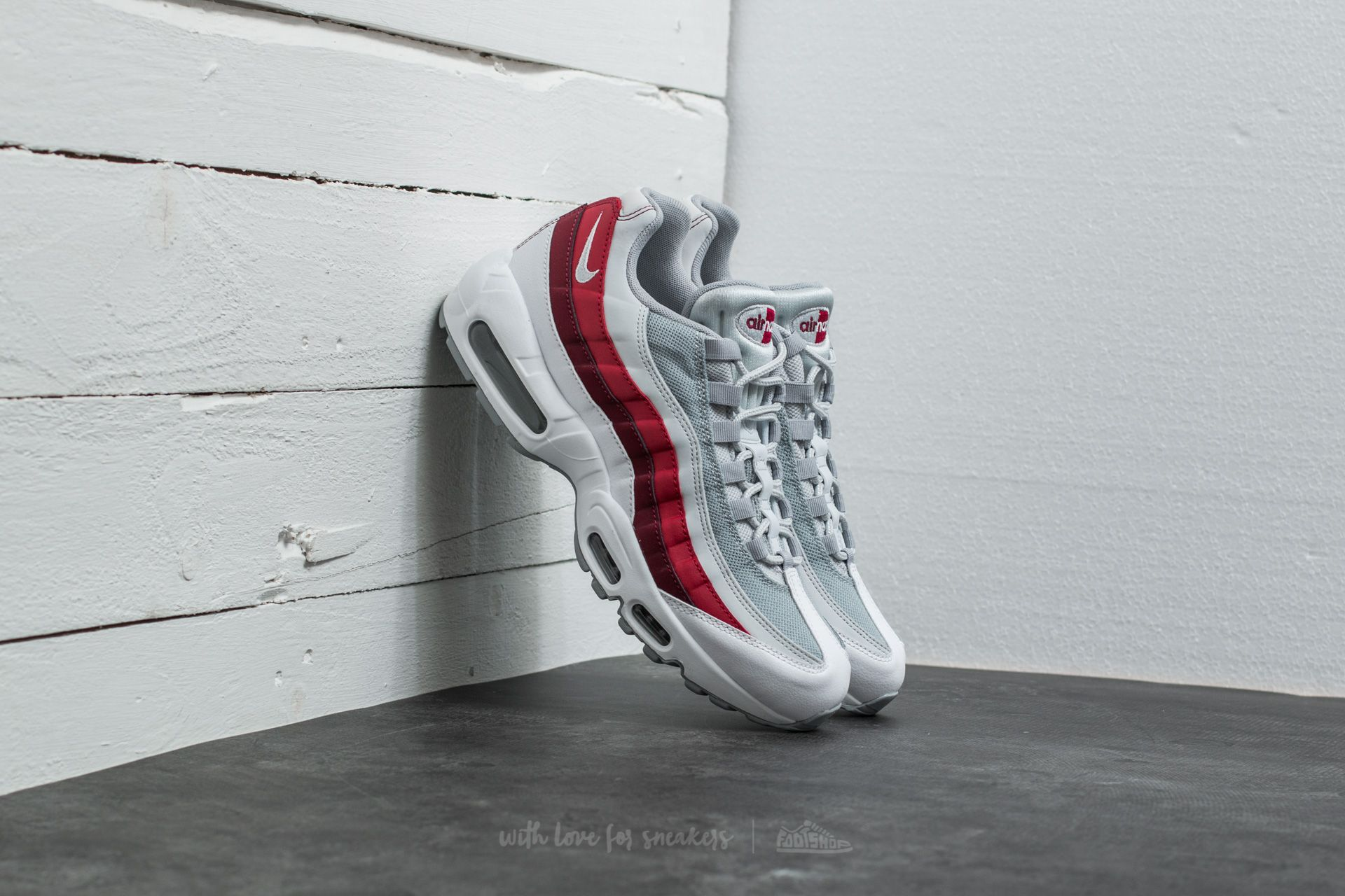 new product 79fb9 7728f Nike Air Max 95 Essential. White  Wolf Grey-Pure Platinum