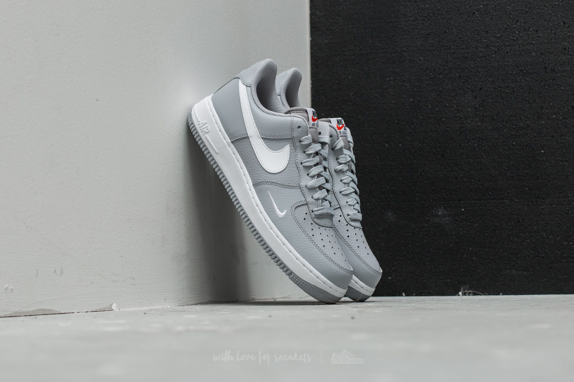 Nike Air Force 1 Wolf Grey  White-White  f04b5a19b6e5