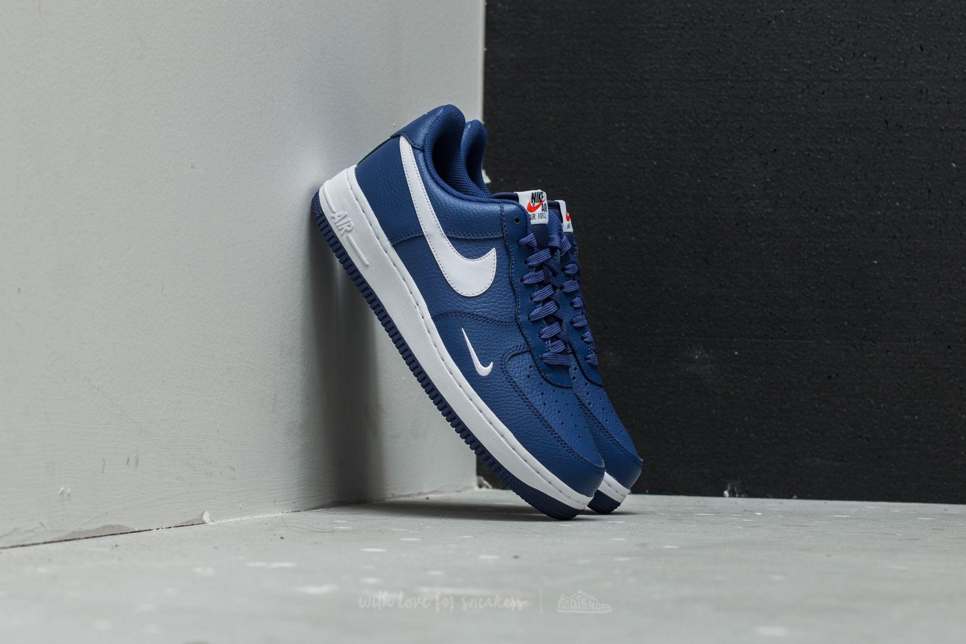 premium selection ba393 98ae3 Nike Air Force 1. Deep Royal Blue  White-White