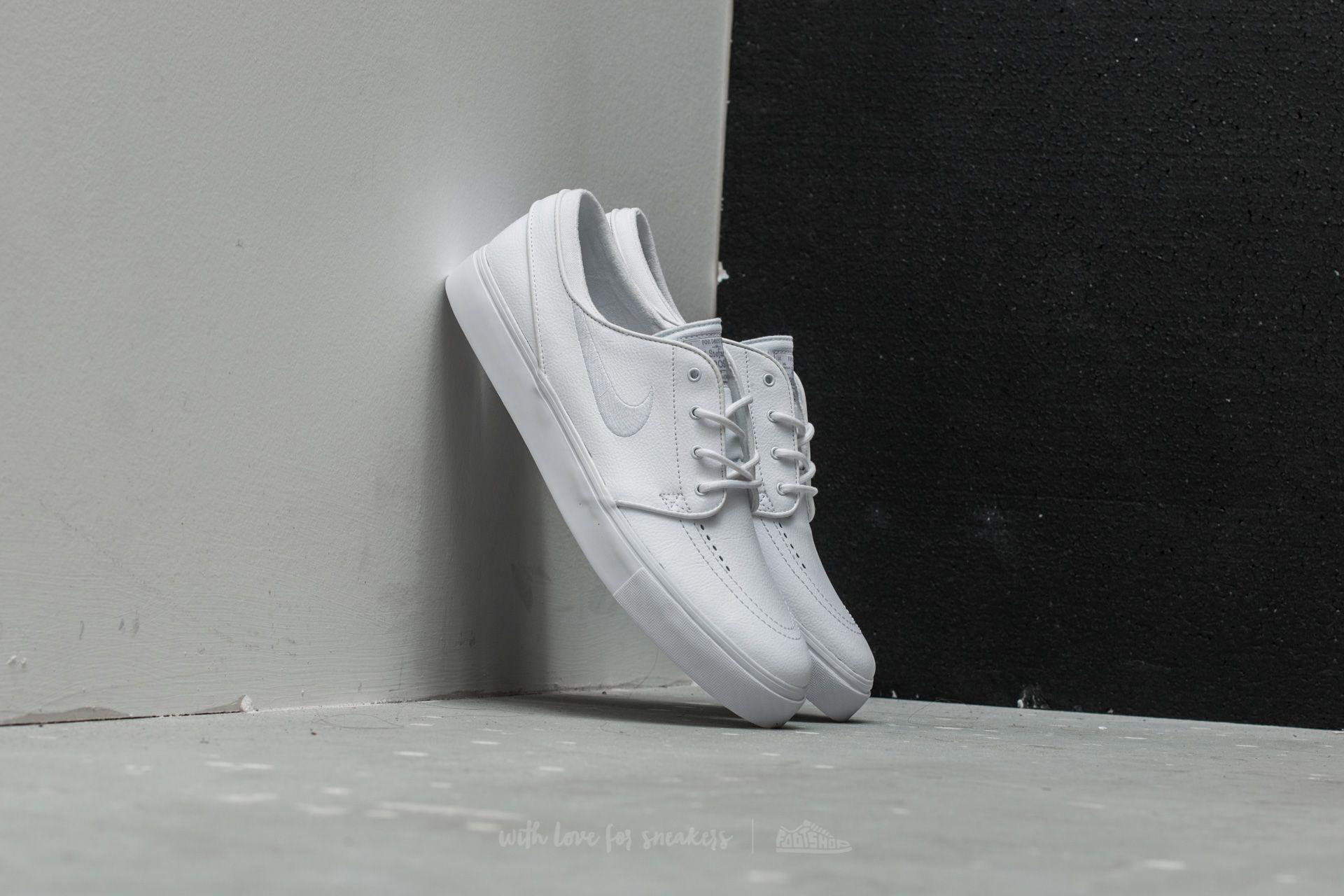 Nike Zoom Stefan Janoski L White  White- Wolf Grey  3ba9a3baa