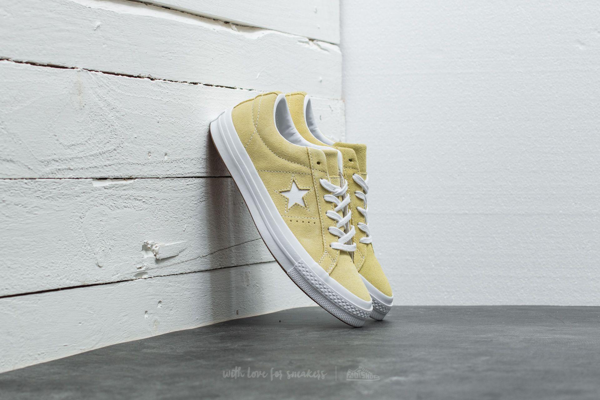 bcf35fb0721 Converse One Star OX Lemon Haze  White  White