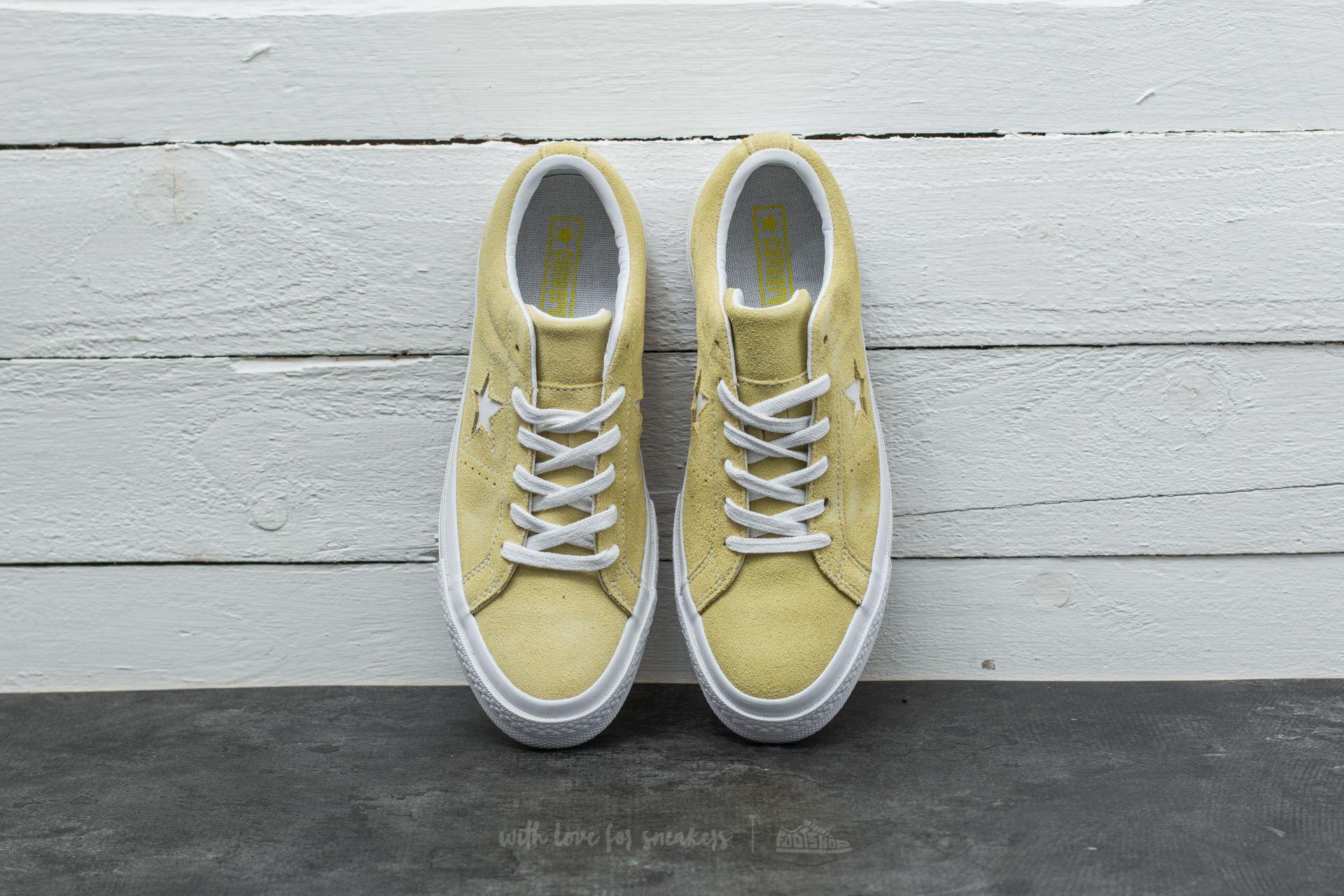 Converse One Star OX Lemon Haze White White   Footshop
