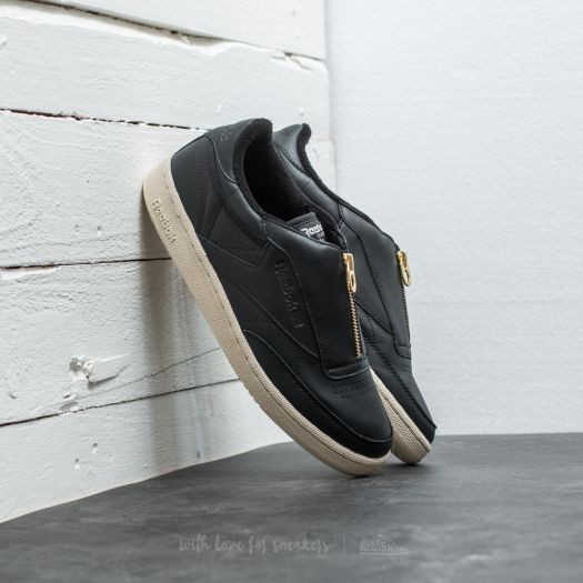 reebok club c 85 zip black