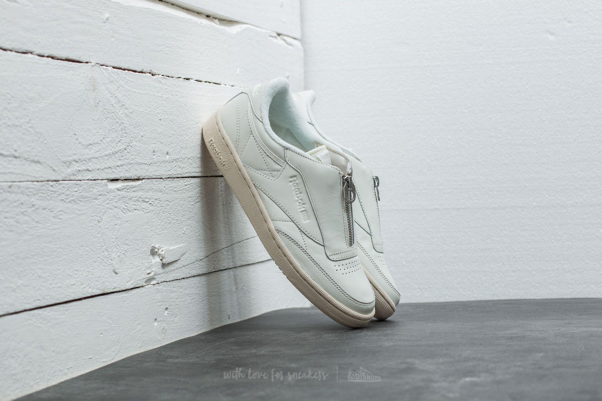 bde73c65d2f Reebok Club C 85 Zip Chalk  Sandstone  White  Silver