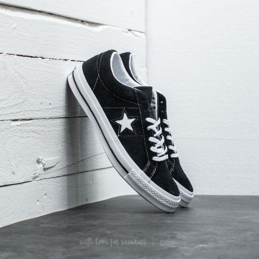 Converse Shoes One Star 74 Ox (blackwhitewhite)