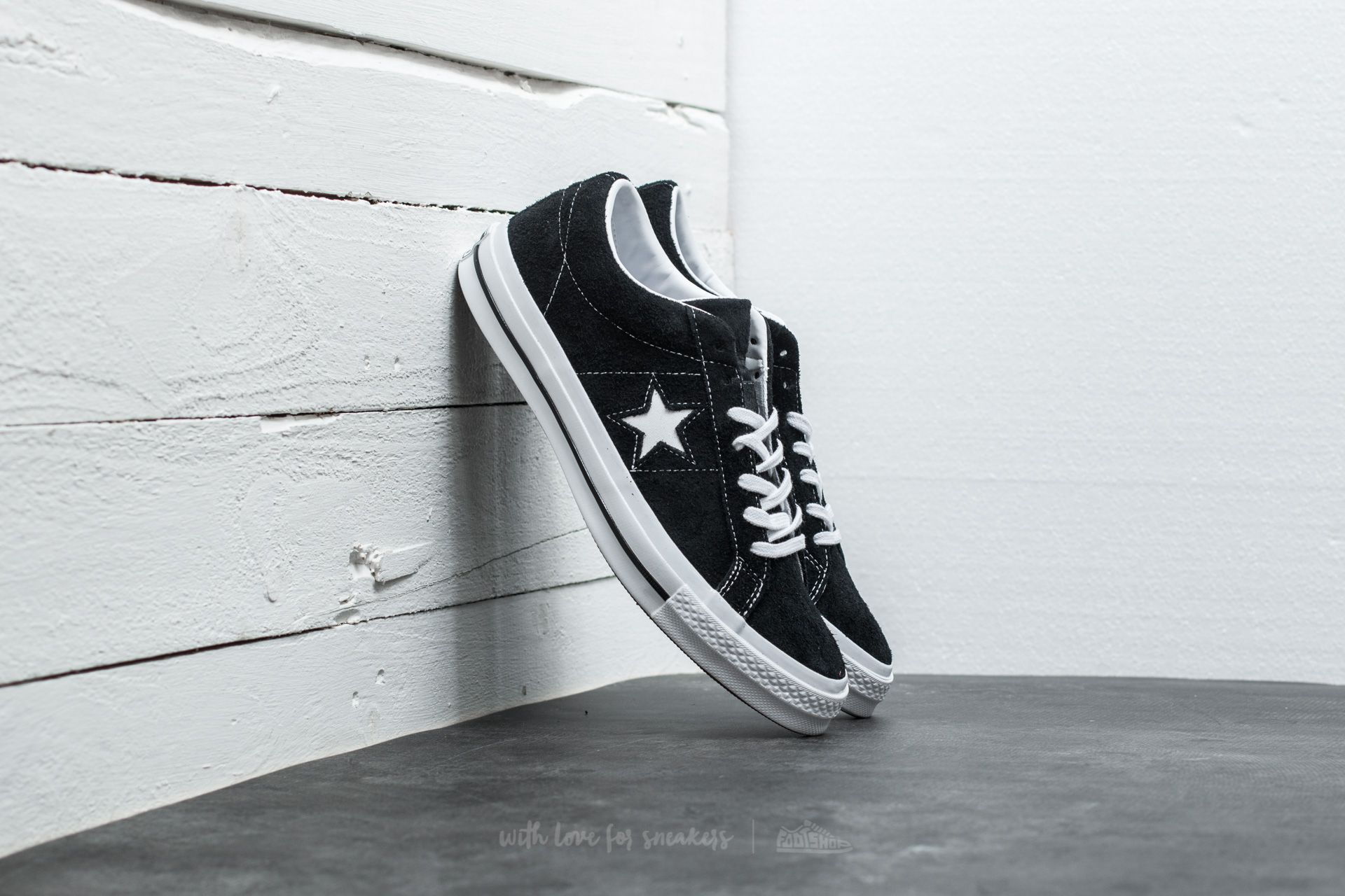 Converse One Star  74 Black  White  White at a great price £76 ebe97a08a15