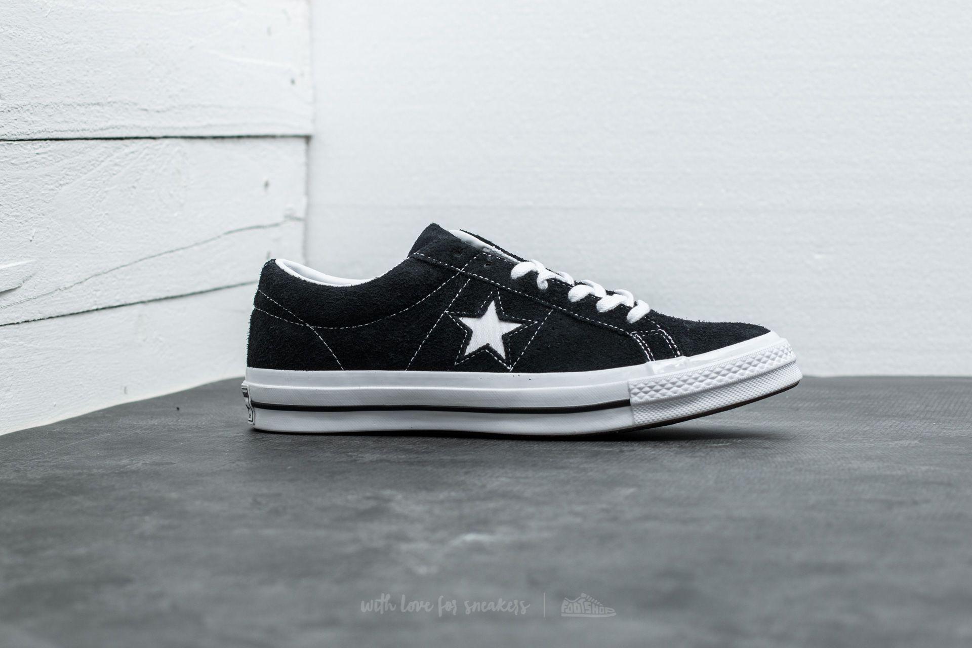 Altitud intersección tienda de comestibles  Men's shoes Converse One Star '74 Black/ White/ White | Footshop