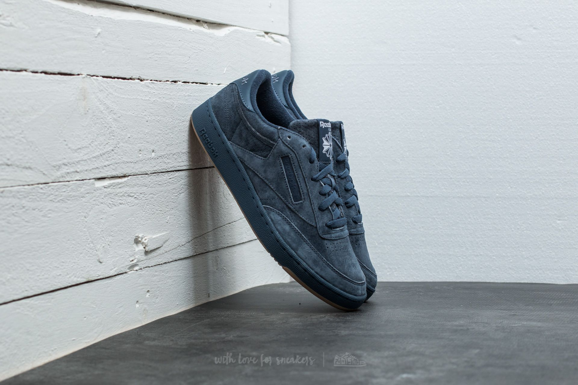 8b56e12b76839 Reebok Club C 85 Seasonal Gum Smoky Indigo  White-Gum